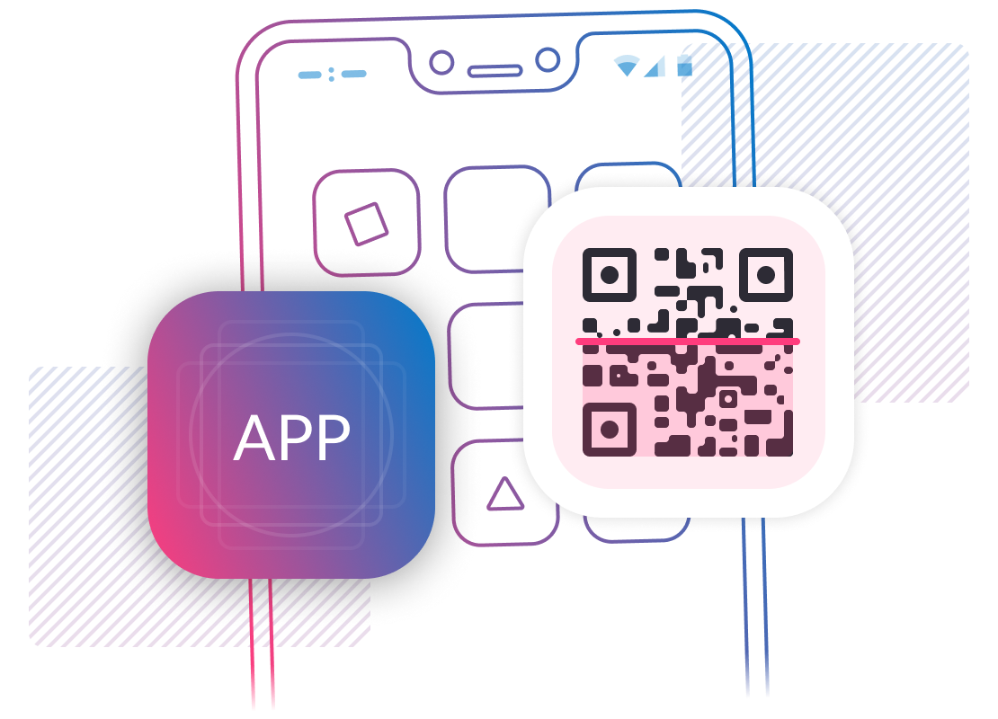 Launch recording features in-app or via QR code